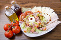 Fresh cheese salad mediterranean healthy diet Royalty Free Stock Images