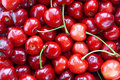 Fresh cherries background Royalty Free Stock Photo