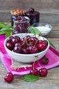 Fresh cherries Royalty Free Stock Photo