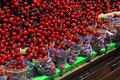 Fresh cherries on a market Stock Images