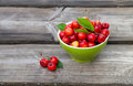 Fresh cherries rustic background Royalty Free Stock Images
