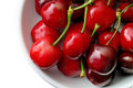 Fresh cherries with stalk Stock Photo