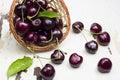 Fresh cherries. Royalty Free Stock Photo