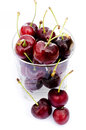 Fresh cherry isolated on white background Royalty Free Stock Image