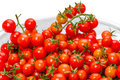 Fresh cherry tomatoes on a white background Stock Photography