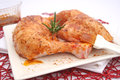 Fresh chicken some with oil and spices Stock Photography