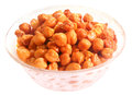 Fresh chickpea over white background Stock Photo