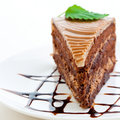 Fresh chocolate cake Stock Photography