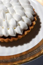 Fresh chocolate cream pie Stock Image