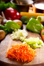 Fresh chopped vegetables Royalty Free Stock Images