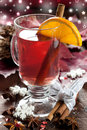 Fresh christmas mulled wine Stock Photography
