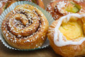 Fresh cinnamon buns photo of Stock Images