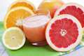 Fresh citrus juice glass of fruit food and drink Royalty Free Stock Image