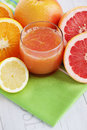 Fresh citrus juice glass of fruit food and drink Royalty Free Stock Images