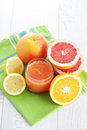 Fresh citrus juice glass of fruit food and drink Stock Photography