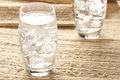 Fresh Clear Water in a glass Royalty Free Stock Images