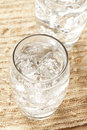 Fresh Clear Water in a glass Stock Images