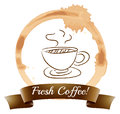 A fresh coffee illustration of on white background Royalty Free Stock Photo