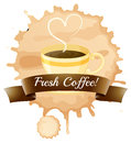 Fresh coffee illustration of the on a white background Royalty Free Stock Photography