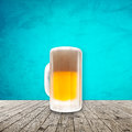 Fresh cold beer given in chilled pint Royalty Free Stock Photos