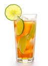 Fresh cold ice tea with lime Stock Photo