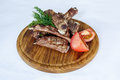 Fresh cooked ribs with vegetables Royalty Free Stock Photo