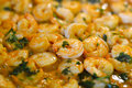 Fresh cooked shrimp Royalty Free Stock Photo