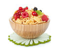 Fresh corn flakes with berries Royalty Free Stock Photo