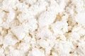 Fresh cottage cheese (curd) heap, isolated on white background . Royalty Free Stock Photos