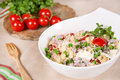 Fresh couscous salad with vegetables Stock Images