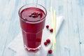 Fresh cranberry juice Royalty Free Stock Photo