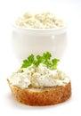 Fresh cream cheese Stock Photo