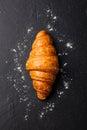 Fresh Croissant Black Slate Ba...