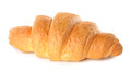 Fresh croissant isolated white background Royalty Free Stock Photography