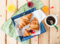Fresh croissants for breakfast Royalty Free Stock Photo