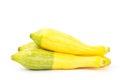 Fresh crookneck squash on white background Royalty Free Stock Image