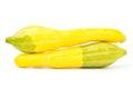 Fresh crookneck squash on white background Stock Photo