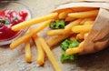 Fresh crunchy fries Royalty Free Stock Photo