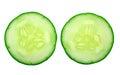 Fresh cucumber slice Royalty Free Stock Photo