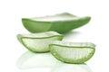 Fresh cut Aloe Vera slices Royalty Free Stock Image