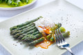 Fresh cut green cooked asparagus Royalty Free Stock Photo