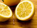 Fresh Cut Lemon Stock Photography