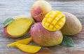 Fresh Cut Mangoes Royalty Free Stock Photo