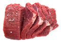 Fresh cuts of raw beef meat with spices Royalty Free Stock Images