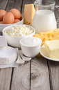 Fresh dairy products. Royalty Free Stock Photo