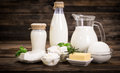 Fresh dairy products Royalty Free Stock Photo