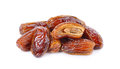 Fresh dates over white background Royalty Free Stock Photo