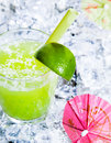 Fresh delicious lime smoothie Stock Photography