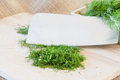 Fresh dill cut Royalty Free Stock Photo