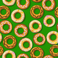 Fresh donut pattern Royalty Free Stock Image
